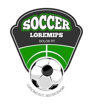 サッカークラブ、ベクトル、ロゴ、テンプレート、白、白