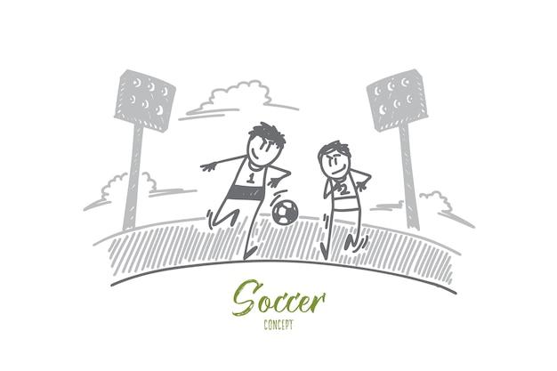 Иллюстрация концепции футбола