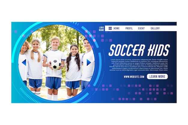 Soccer concept landing page