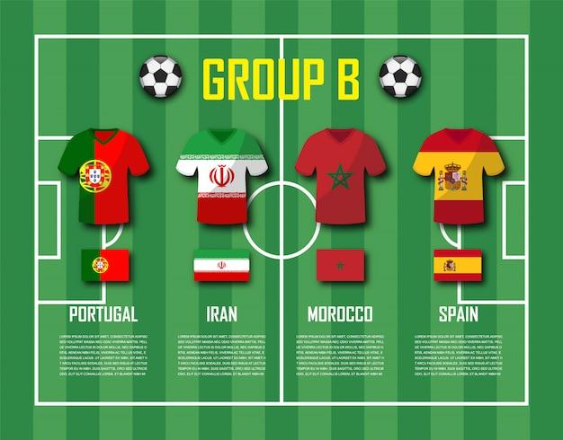 Soccer cup 2018 team group b