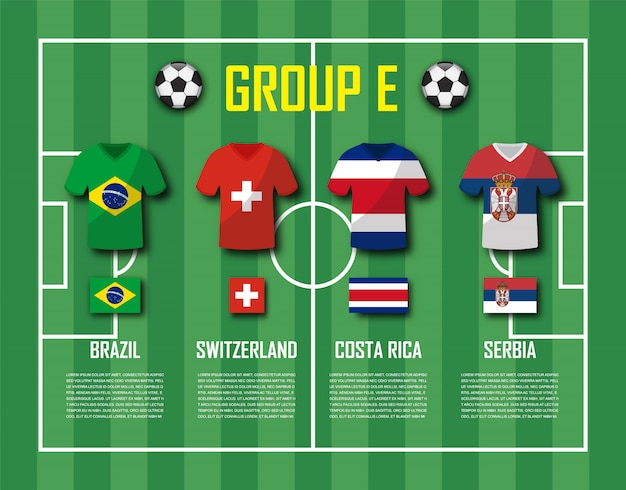 축구 컵 2018 팀 그룹 e