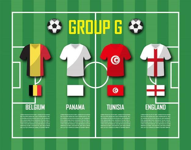 Soccer cup 2018 team group g