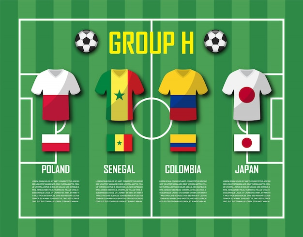 Soccer cup 2018 team group h