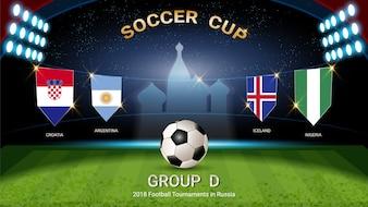 サッカーカップ2018