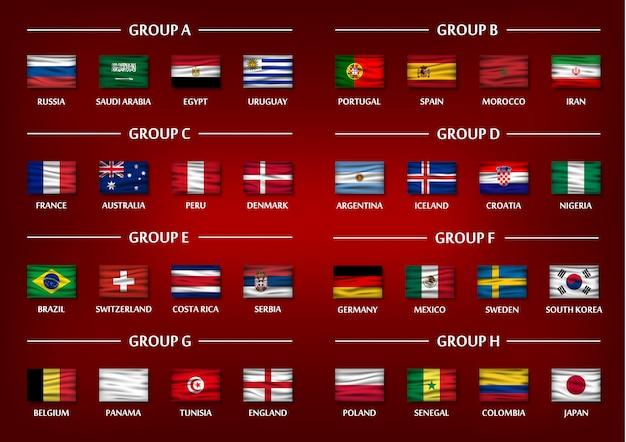 Soccer cup team group set 2018