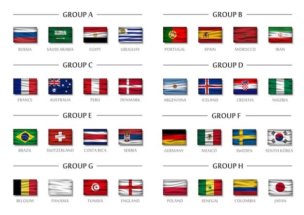 Soccer cup team group set