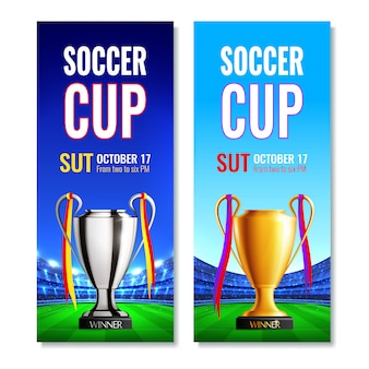 Soccer cup vertical banners