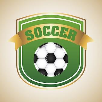 Soccer design over beige background vector illustration
