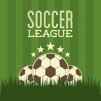 Soccer design over green  background  vector illustration