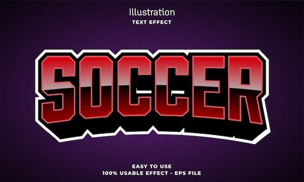 Soccer editable text effect