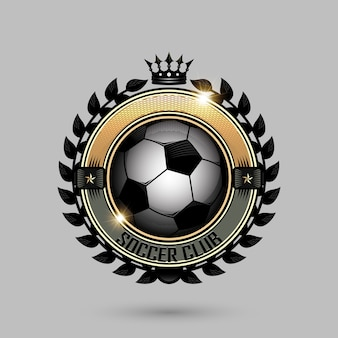 Soccer emblems with crown