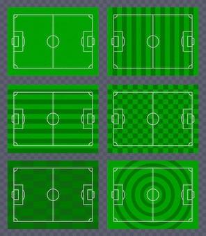 サッカー場の背景セット