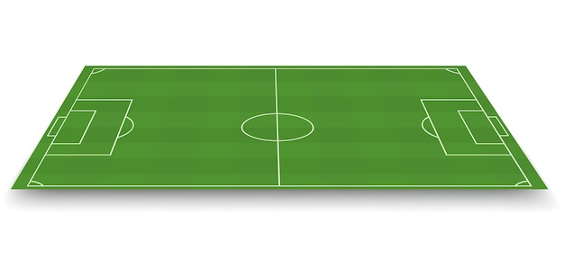 サッカー場、側面図