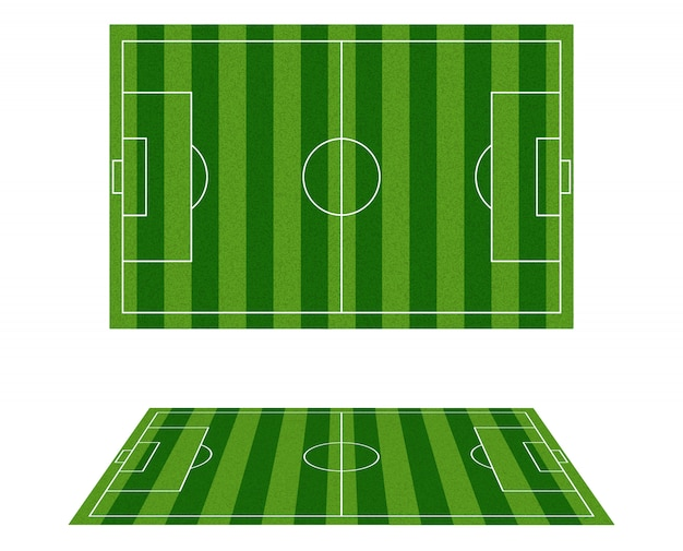 Soccer field top view .