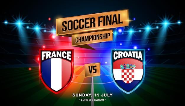 Финал матча между францией и хорватией