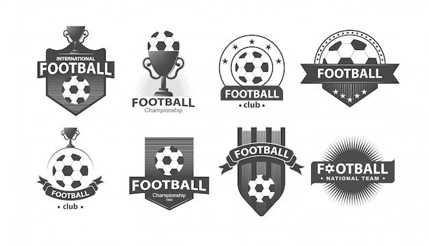 サッカーサッカーバッジのロゴとバッジ