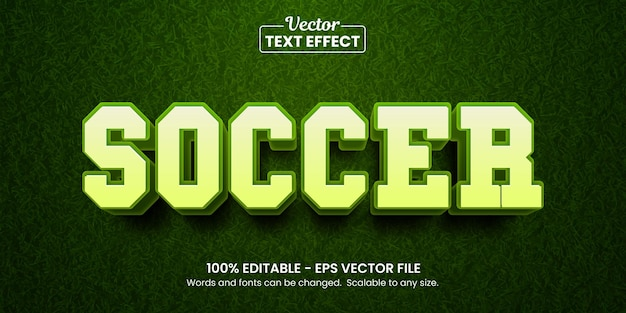 Soccer and football editable text effect