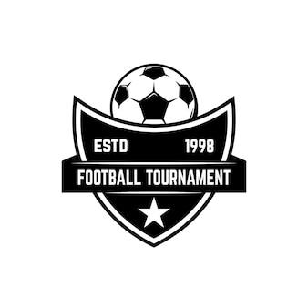 サッカー、フットボールのエンブレムイラスト