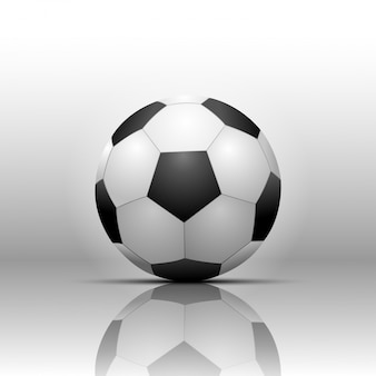 Soccer football isolate on white background