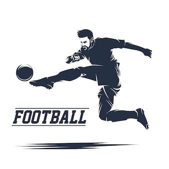 Soccer and football logo vector