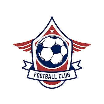 Soccer, football logo.