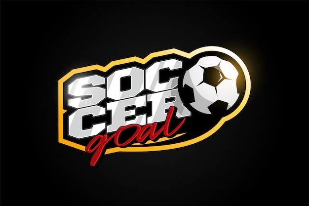 Soccer or football modern professional sport typography in retro style.