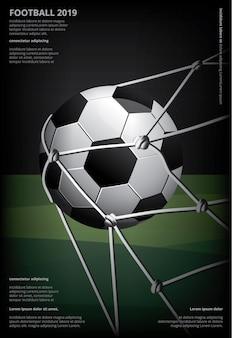 Soccer football poster  illustration