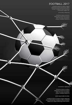 Soccer football poster vestor illustration
