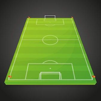 Soccer football sport field empty design