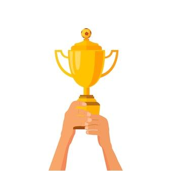 Soccer football trophy