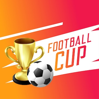 Soccer football winning trophy cup background