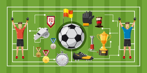 Soccer game football horizontal background