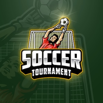Soccer goalkeeper emblem