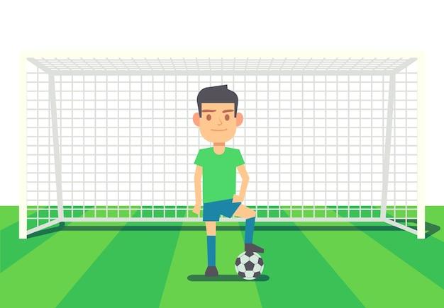 Вратарь футбольного мяча на арене