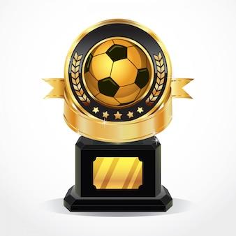 Soccer golden award medals.
