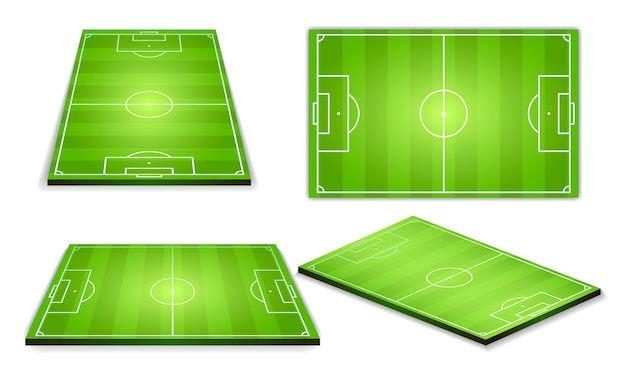 Soccer green field for game collection