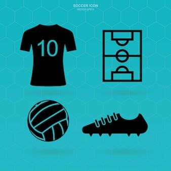 Soccer icon set. abstract football sign and symbol. vector illustration.