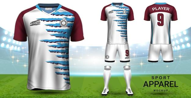 Шаблон футбольного футбола и футбольного макета Premium векторы