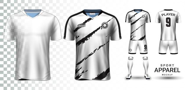 축구 유니폼 및 축구 키트 프리젠 테이션 이랑 템플릿