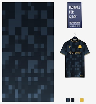 Soccer jersey fabric pattern design abstract pattern on black background