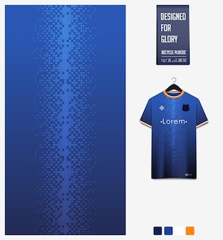Soccer jersey fabric pattern design abstract pattern on blue background