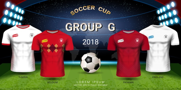 Soccer jersey football cup 2018 team group g