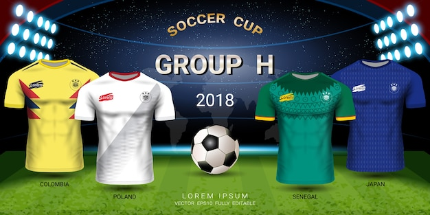 Soccer jersey football cup 2018 team group h
