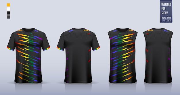 축구 유니폼, 축구 키트, 농구 유니폼 또는 스포츠웨어 템플릿 디자인.