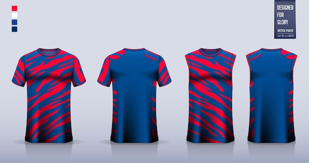 Soccer jersey or football kit mockup template design tank top for basketball jersey running shirt
