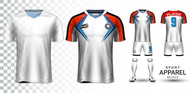 Soccer jersey and football kit presentation mockup template