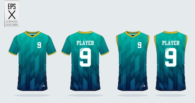 Soccer jersey or football kit template design