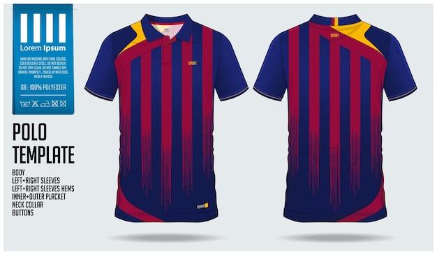 Soccer jersey or football kit template design