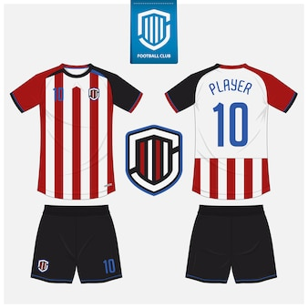 Soccer jersey or football kit  template design.