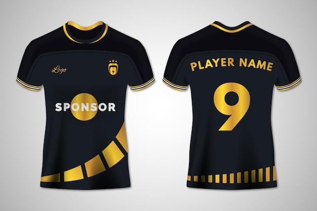 Soccer jersey front and back set